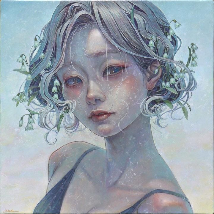 Snowflake, Miho Hirano, Oil, 2018