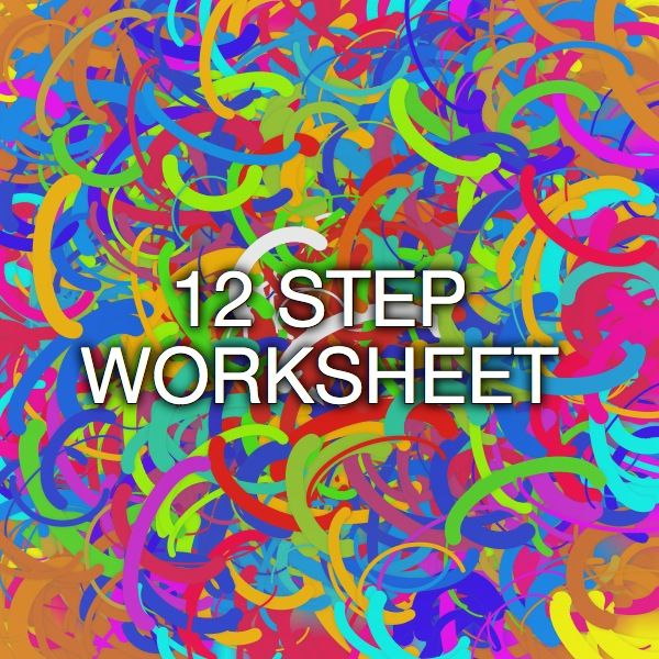 Worksheets 12 Step Recovery Worksheets 12 step worksheet celebrate recovery pinterest stars worksheet