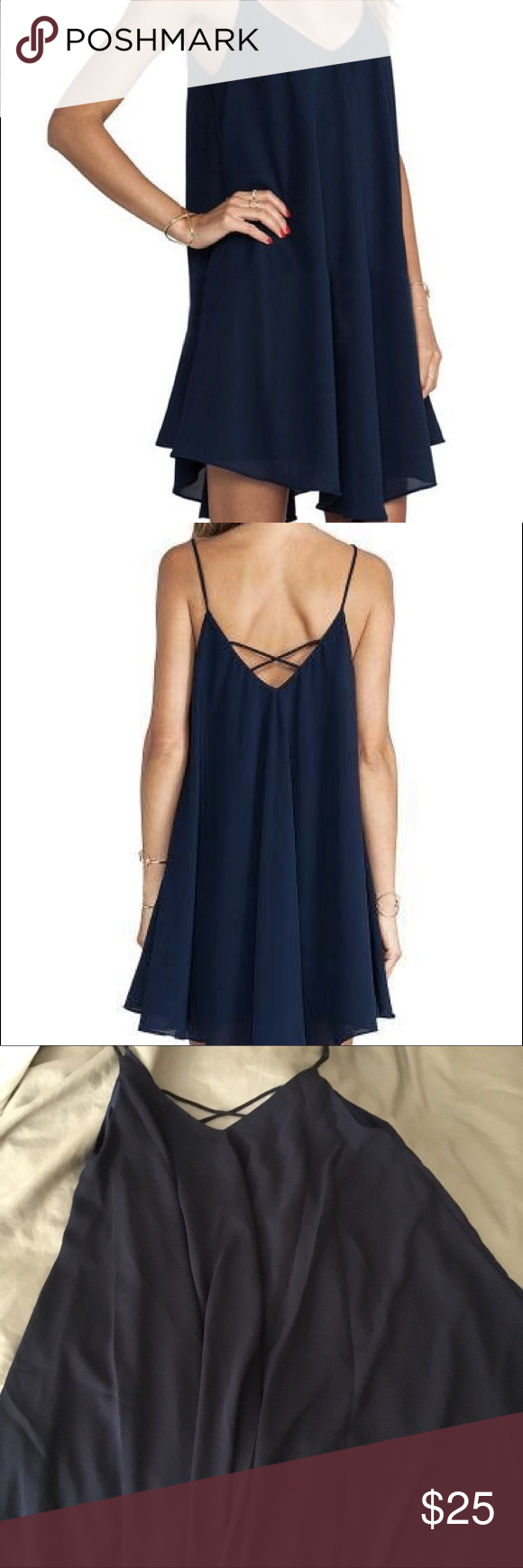 Blue Cami Shift Dress Blue shift dress, perfect for summer days out! Only worn once! Dresses