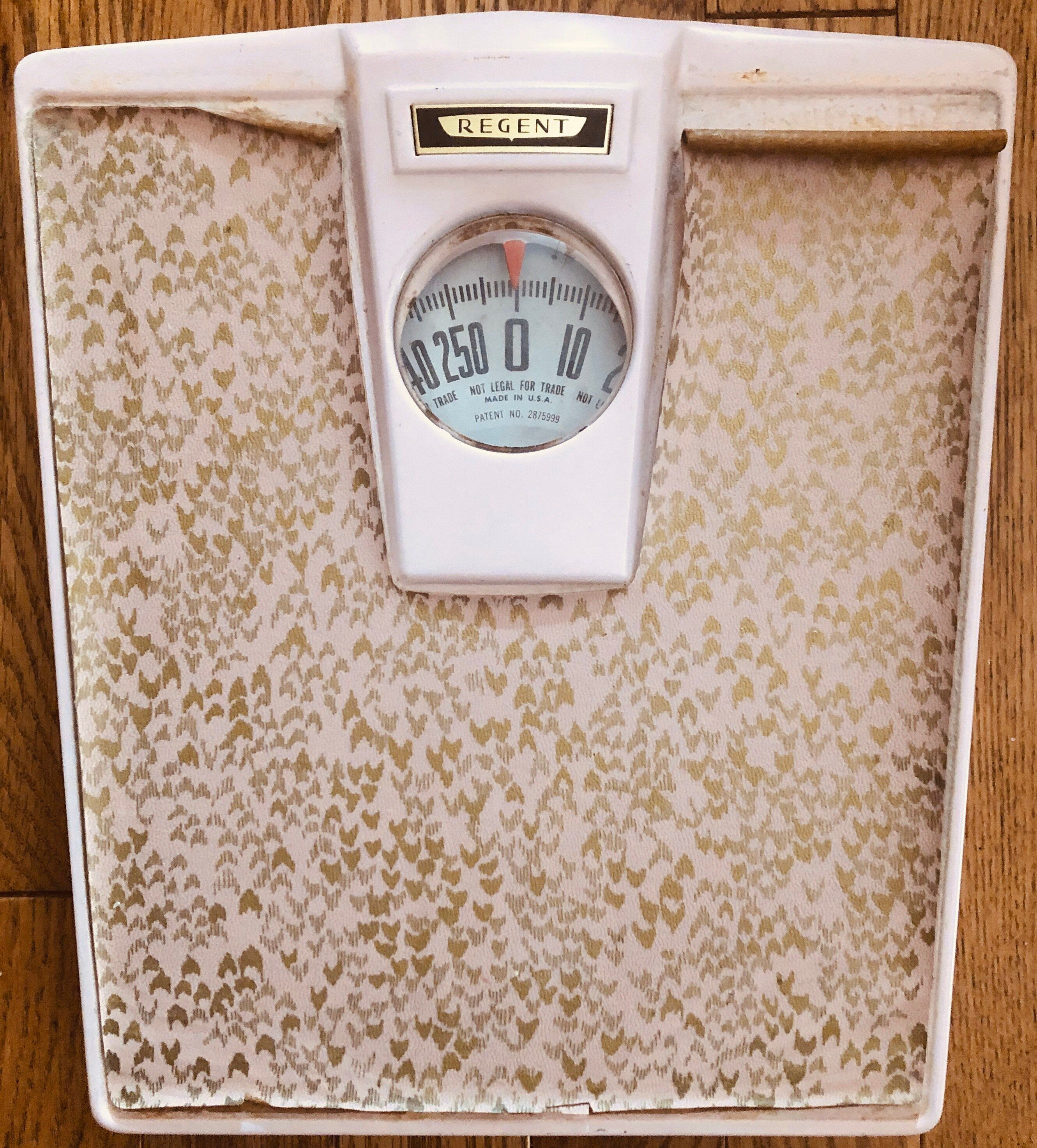 1950s Bathroom Scales Pink And Gold Boomerang Midcentury Bathroom