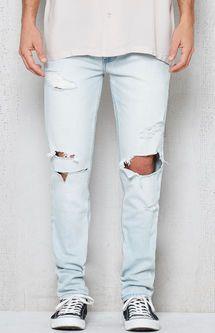 2da36d22364 Skinny Destroyed Light Wash Stretch Jeans | Dope Board | Jeans ...