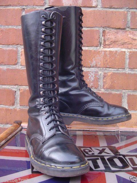 Vintage Original Dr Martens 18 Eye Boots Uk 6 Skinhead