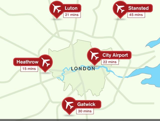 airport map of london Easy And Convenient Travel London Airports London City Airport airport map of london