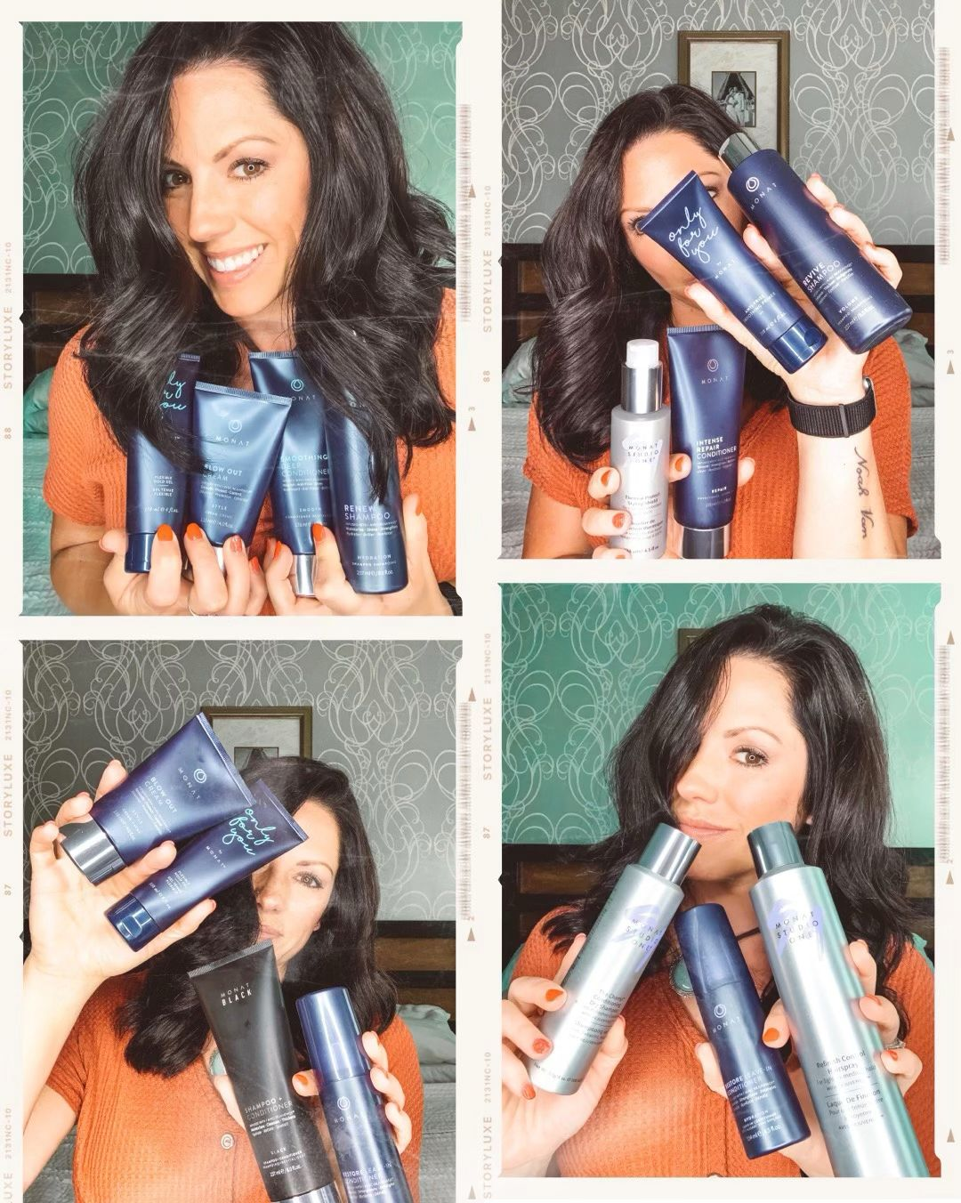 Buy any shampoo and any conditioner, add any styling