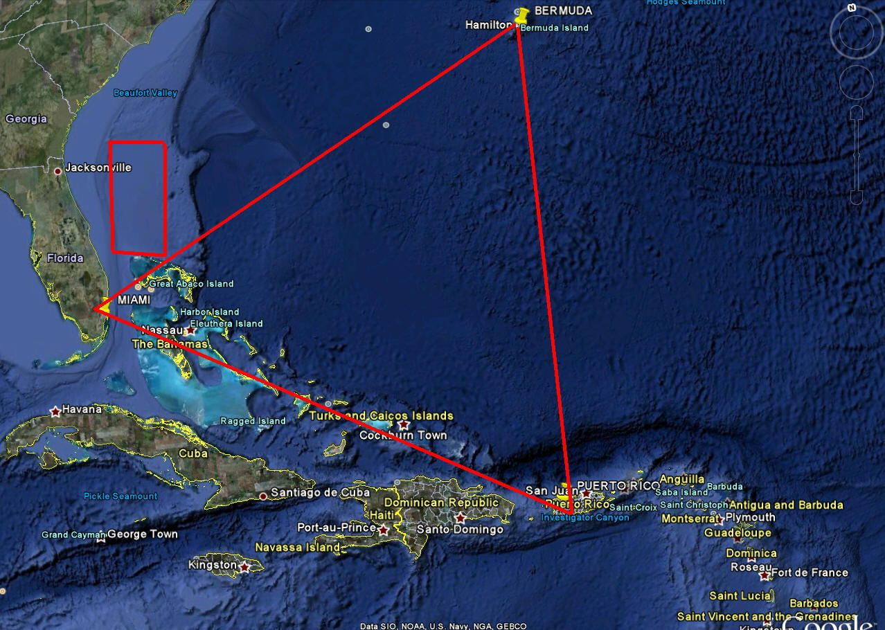 The Bermuda Triangle Is A Good Example Of The Mysterious Aura Behind