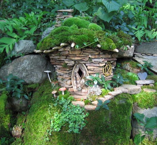 Garden Stone Hut by Sally J. Smith