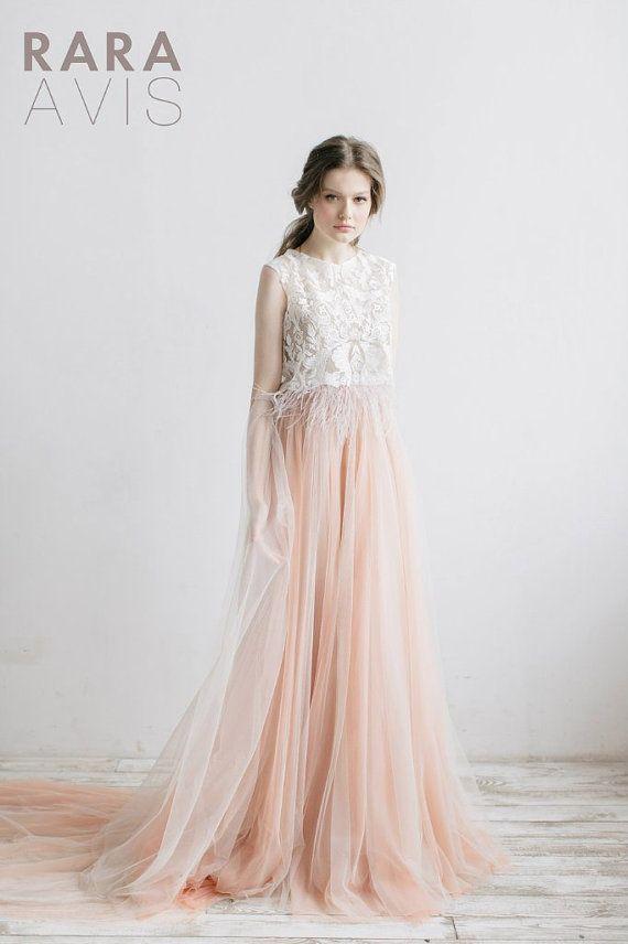 Wedding dress LUNA, boho wedding, bridal gowns, boho wedding ...