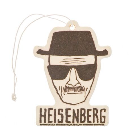 What better way to freshen up your car like a badass than with a Breaking Bad Heisenberg air freshener!  Get yours today! #breakingbad #airfreshener #heisenberg