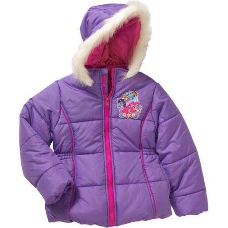 4, Pony Purple My Little Pony Little Girls Puffer Coat Jacket