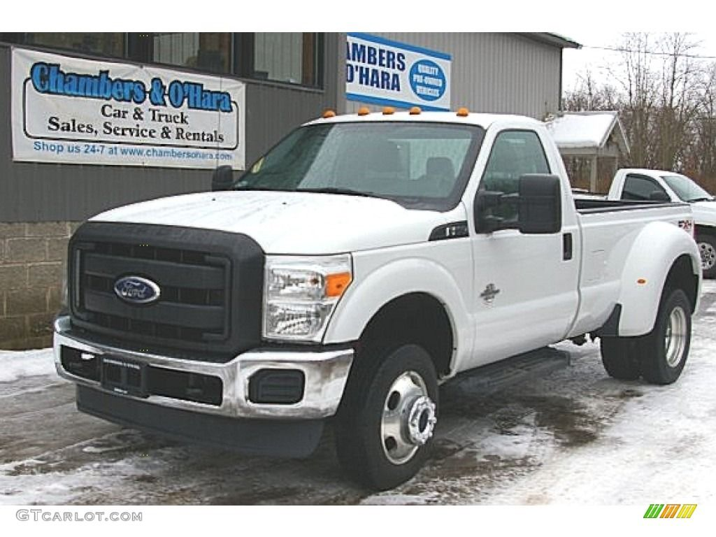 2011 F350 Super Duty XL Regular Cab 4x4 Dually - Oxford White / Steel photo  #1