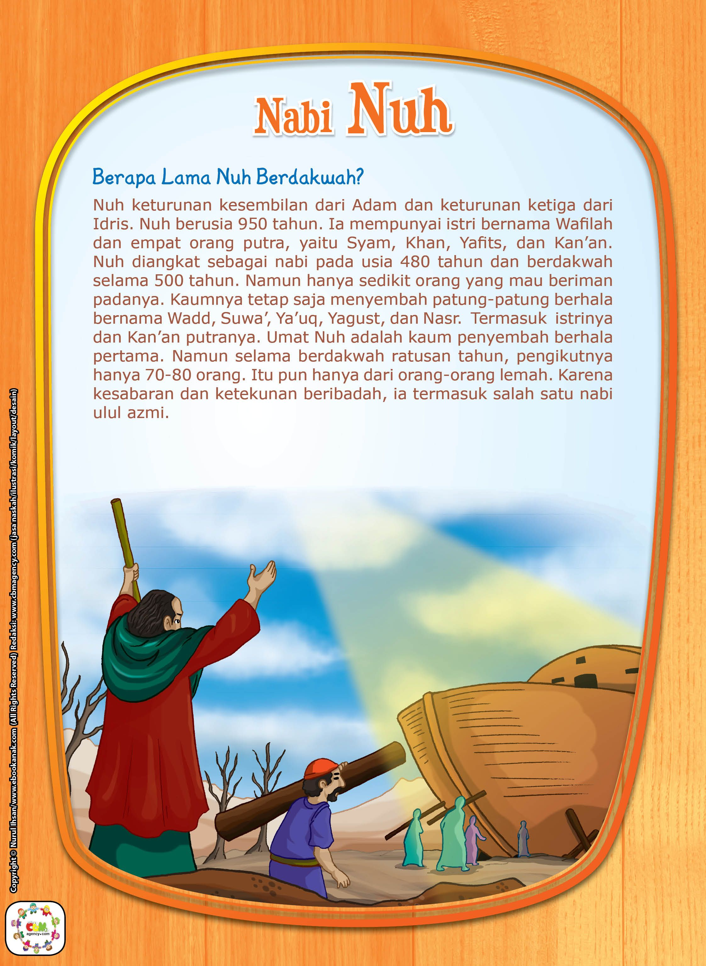 Berapa Lama Nabi Nuh Berdakwah Pendidikan Belajar Buku