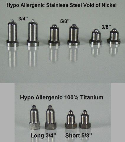 Hypo Allergenic Titanium Contact Points