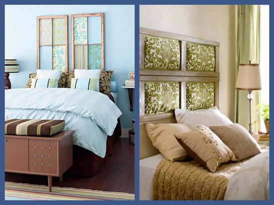 Shutter and window headboards - I like these because I know I can make them! & repurposing old doors and windows   windowpane headboard ... Pezcame.Com