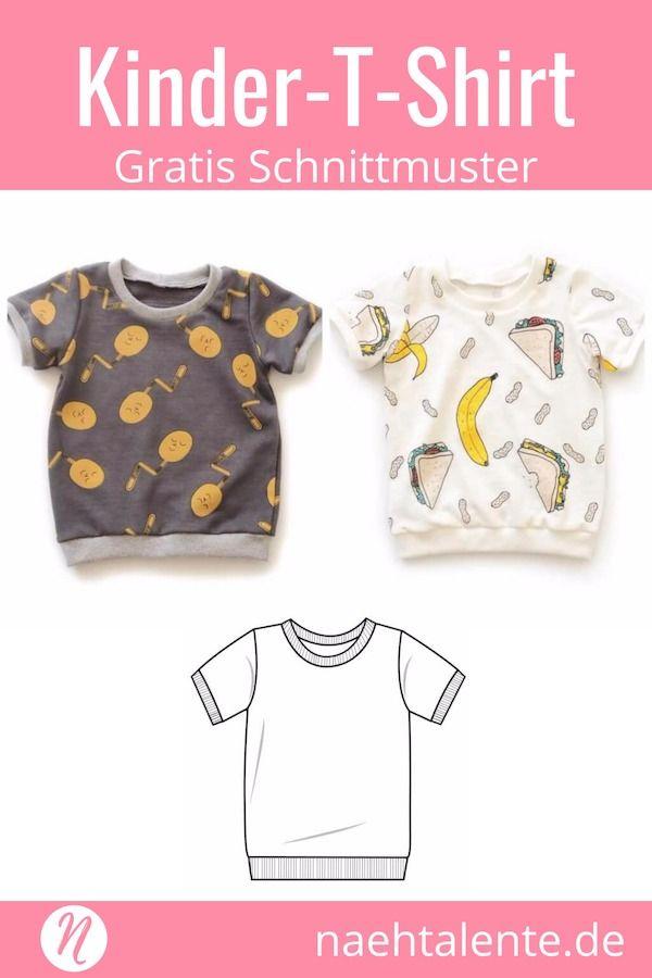 T-Shirt für Kinder - Freebook für Kurz- und Langarmshirts ...