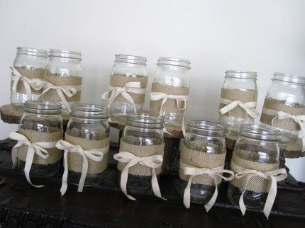 Mason Jar Table Decorations Used For Invitations Will Be Used To Collect Coins That Will Be
