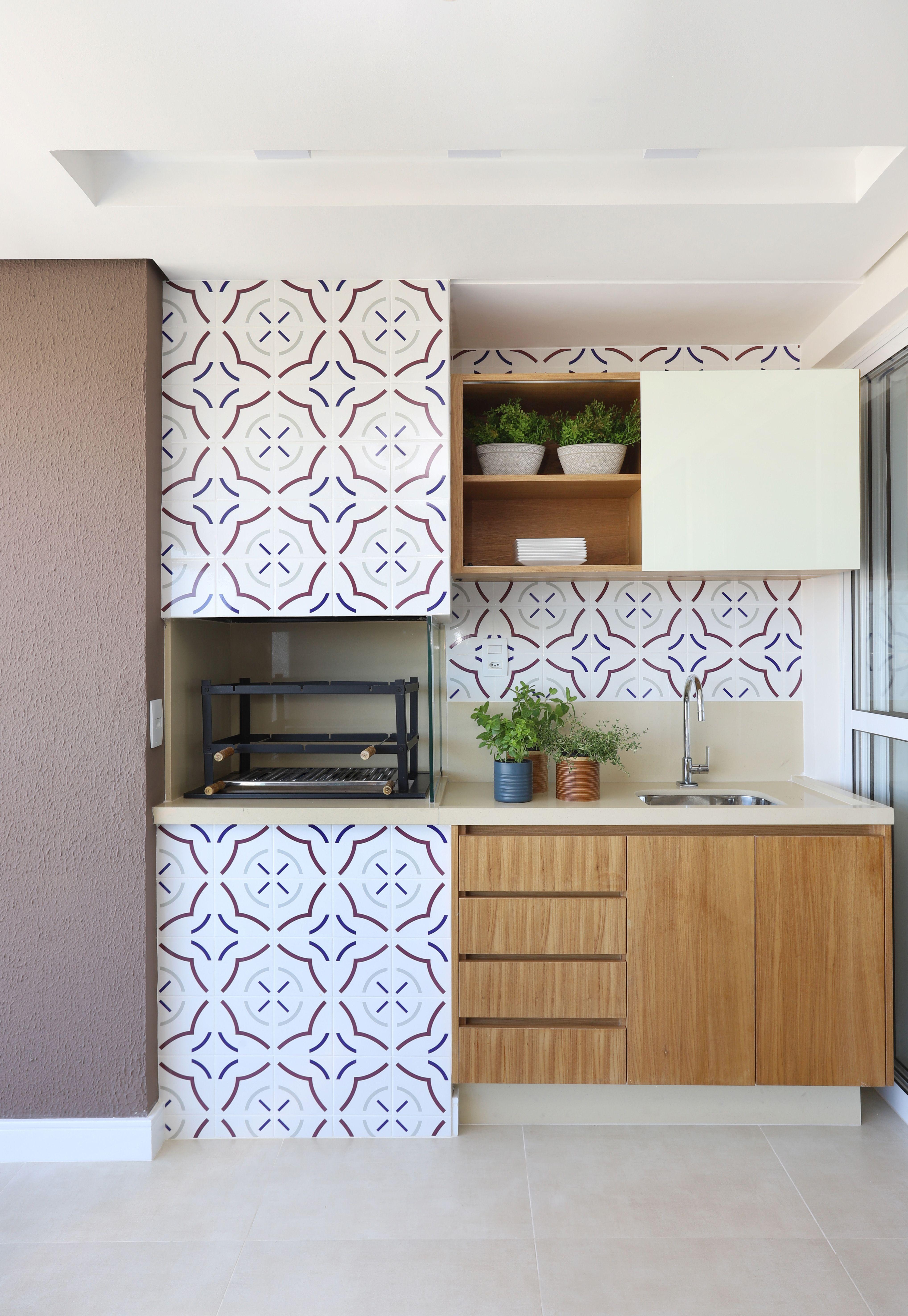 Varanda De Apartamento Com Area Gourmet Churrasqueira Com Ladrilho