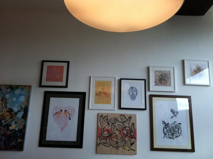 Red feather exhibition by Dave Bain. Art in the bar @ Chapter