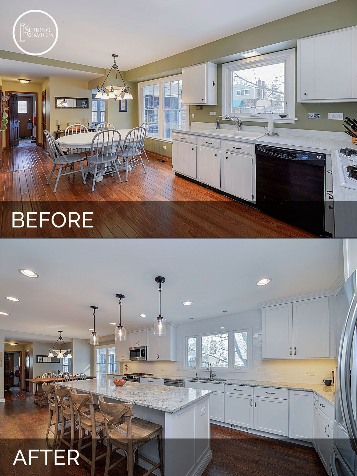 Before and After Kitchen Remodeling - Sebring Services | House ideas ...