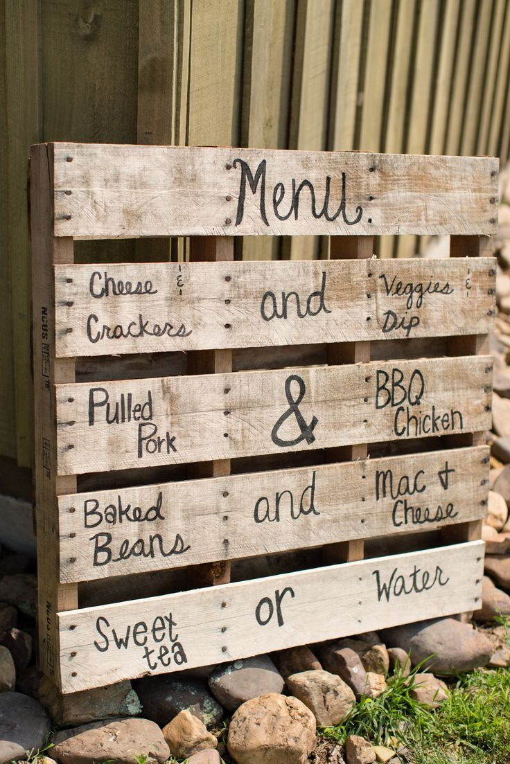 Creative Birthday Party Menu With A Rustic Theme See More Planning Ideas At