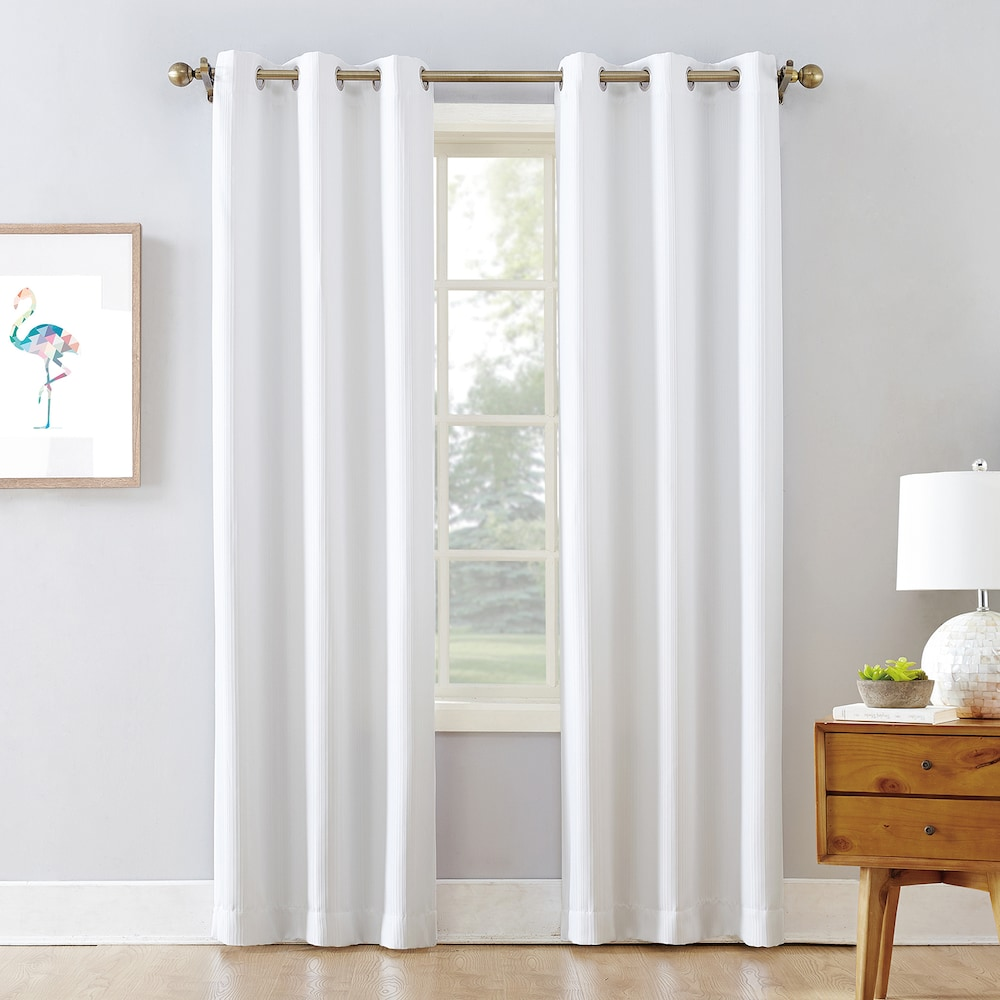 The Big One Room Darkening 2 Pack James Solid Stripe Window Curtain In 2020 Curtains Solid Window Beige Curtains