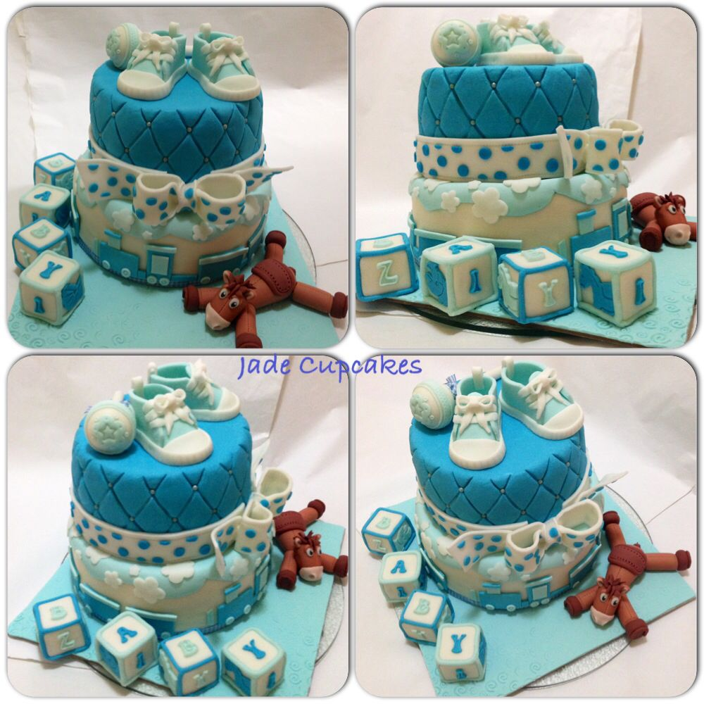 A Cake For A 1 Month Old Baby Boy 1 Month Old Baby Baby Month By Month One Month Baby