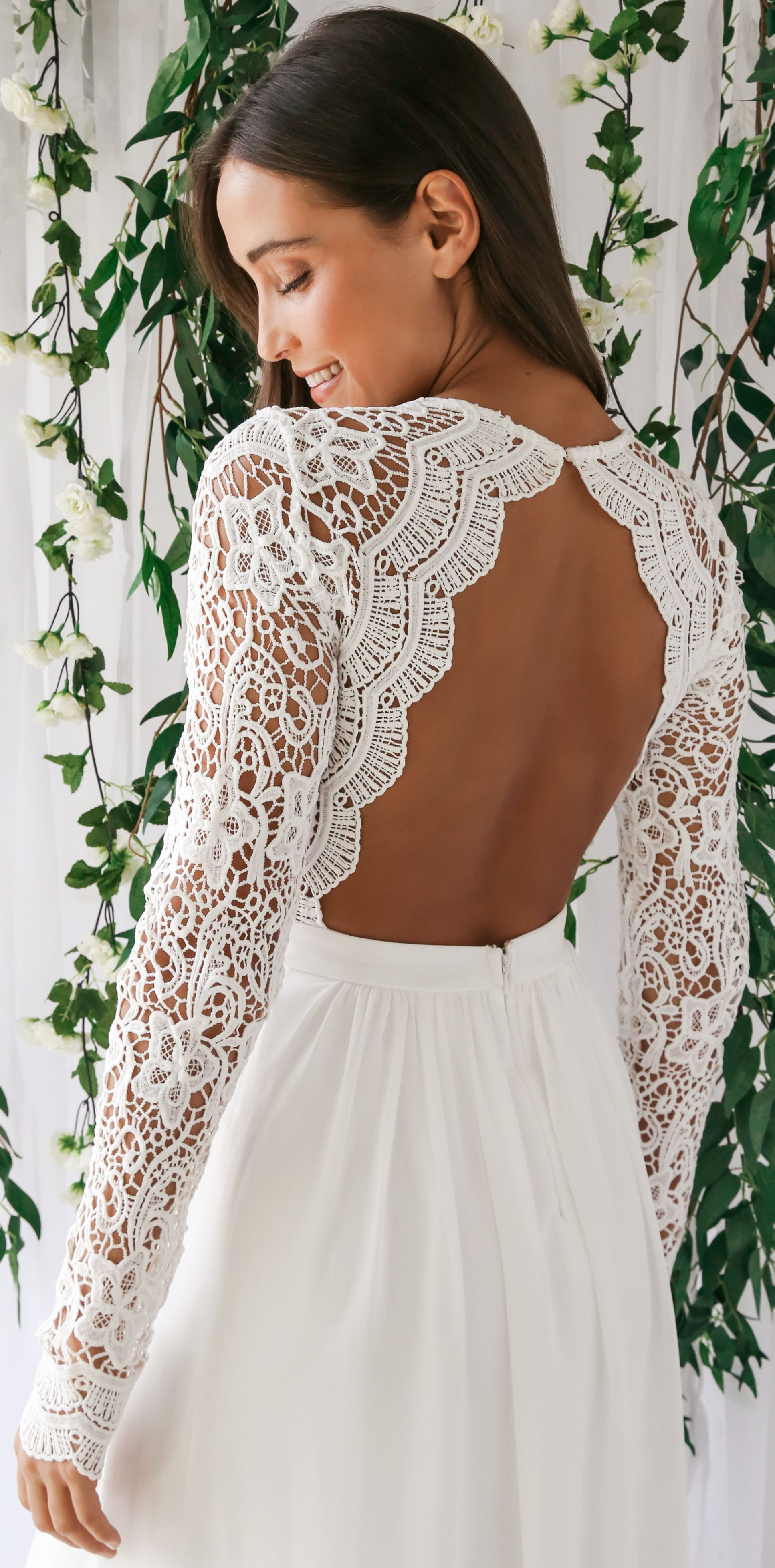 Awaken My Love White Long Sleeve Lace Maxi Dress Long Sleeve Lace Maxi Dress Wedding Dress Outfit Lace Maxi Dress [ 3915 x 1934 Pixel ]