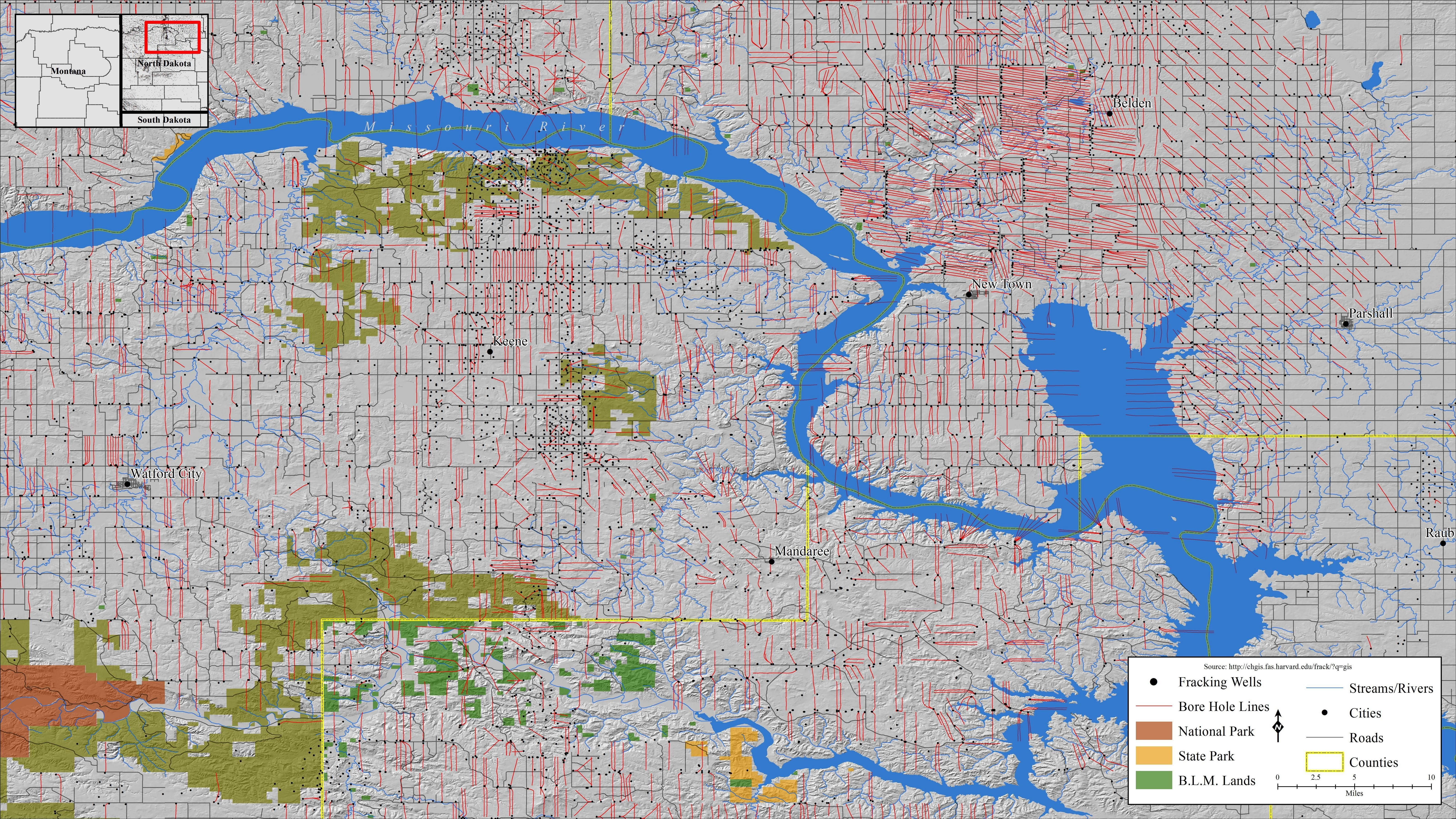 North Dakota Fracking Wells By Apophis Map Northdakota Fracking North Dakota Map Dakota