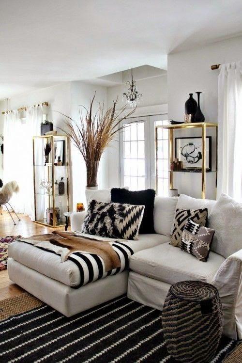 Decorar nuestra casa en blanco y dorado Apartment ideas