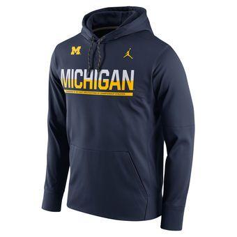 Brand Jordan Michigan Wolverines Nike Jumpman Pullover