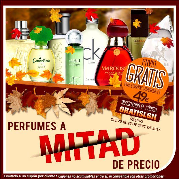 Promociones #perfumes a mitad de precio #comprar perfumes al mejor precio online