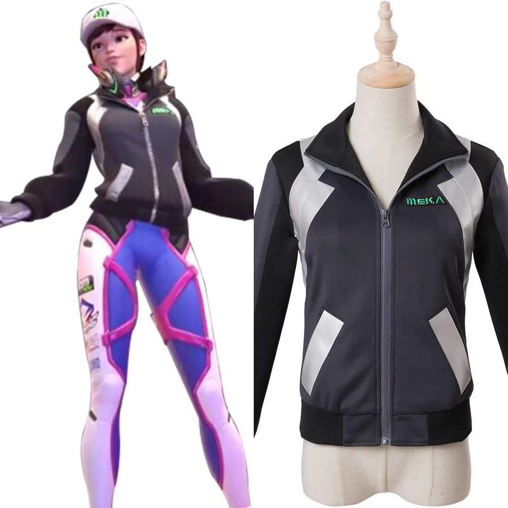 1e2dbf37b27 Overwatch D.Va DVA Hana Song Cosplay Costume Shooting Star Outfit i ...