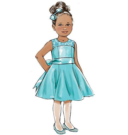 Butterick B5980  PATTERN Size 2-8 Brand New Childrens//Girls Dress