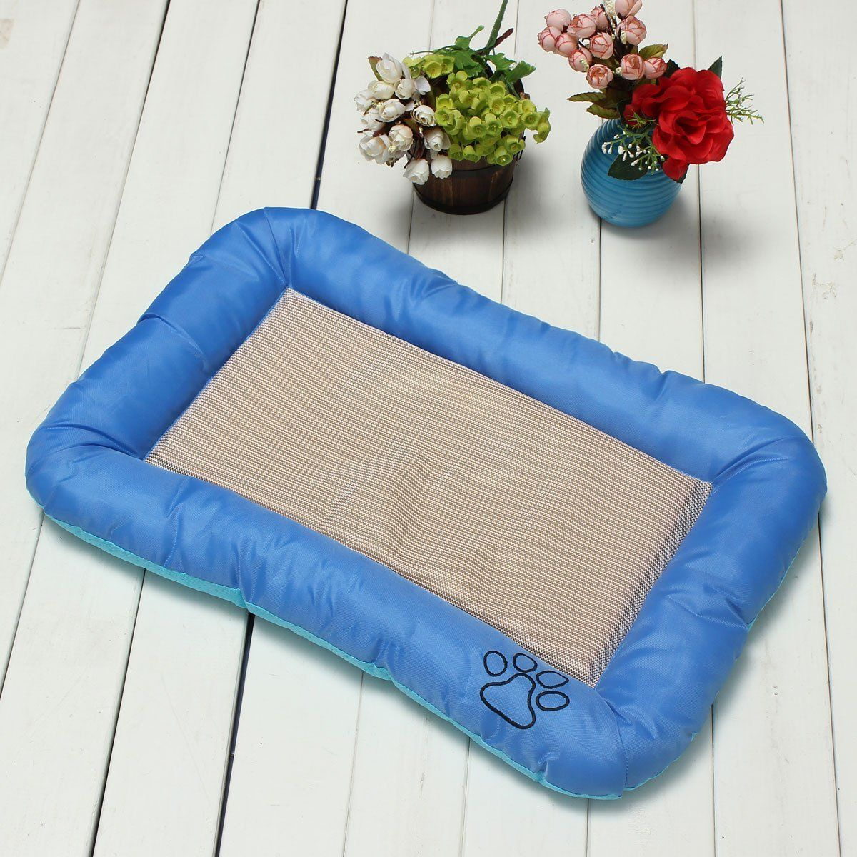 S Ice Silk Puppy Dog Cat Pet Sleep Seat Bed Summer Cooling