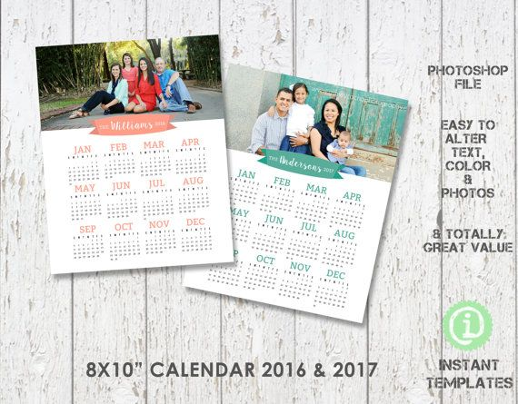2016 And 2107 Photography Calendar Sized At 8x10 By Instant