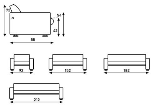 691 Sofa Size