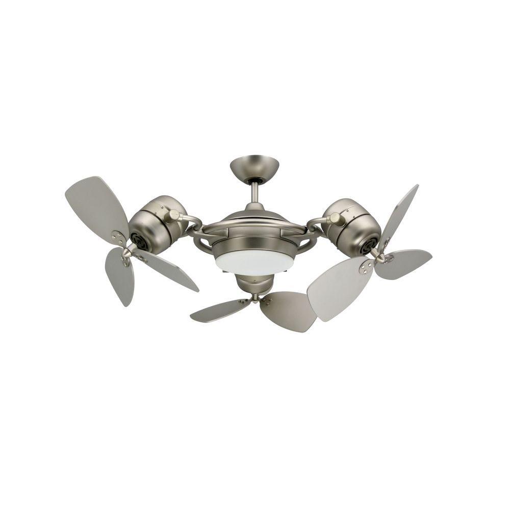Troposair Tristar 47 In Satin Steel Triple Ceiling Fan 88550