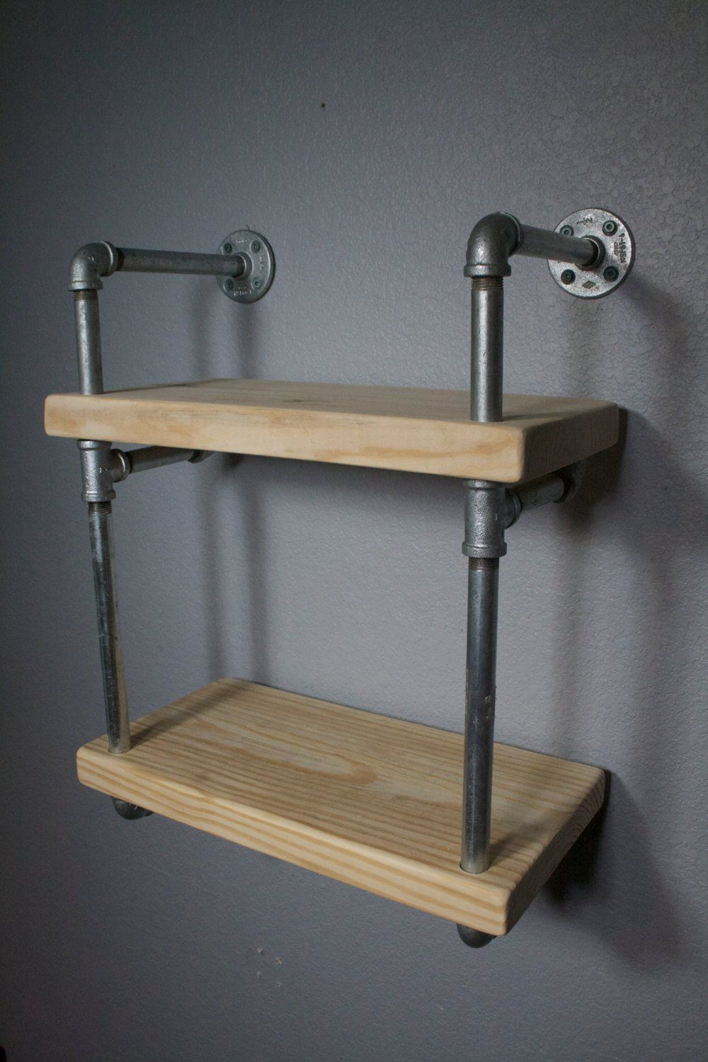 our originally designed industrial pipe wall shelf mini. Black Bedroom Furniture Sets. Home Design Ideas