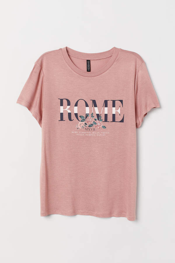 aece80b929 H&M Viscose T-shirt - Pink in 2019 | Products | Shirts, T shirt bra ...