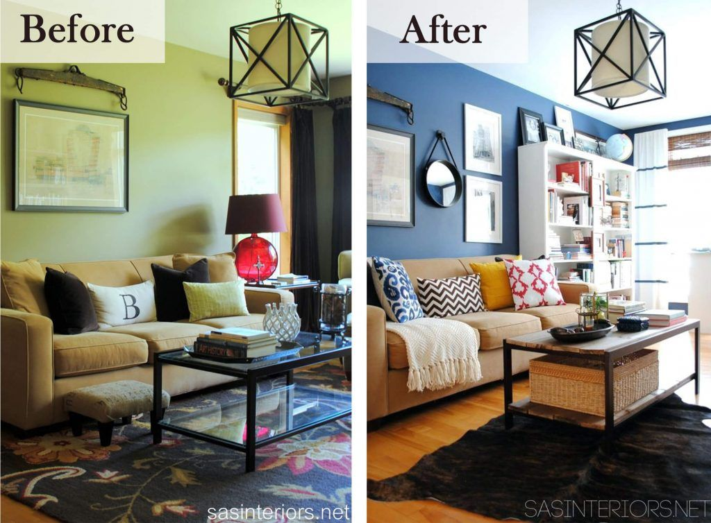 Before And After 26 Budget Friendly Living Room Makeovers To Inspire You Living Room Makeover Budget Friendly Living Room Hgtv Living Room