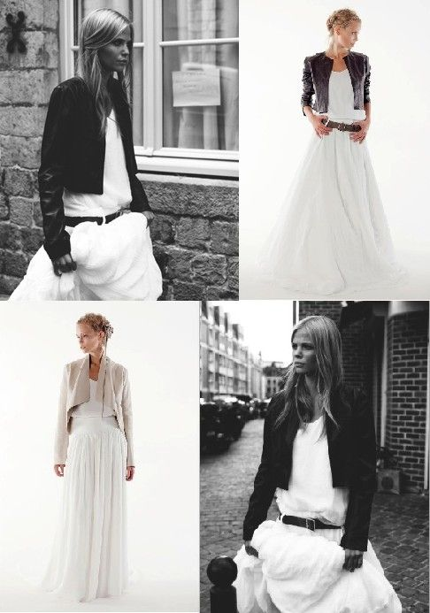 chaquetas de cuero para novias / fall weddings | vestidos
