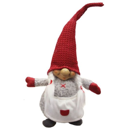<div>Add some mystical enchantment to your Christmas decor with this charming gnome. This female...