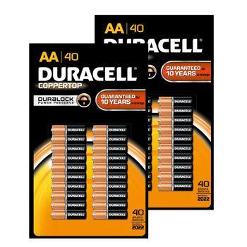 Costco Duracell Aa 40 Unit 2pk Alkaline Batteries Duracell Alkaline Battery Costco
