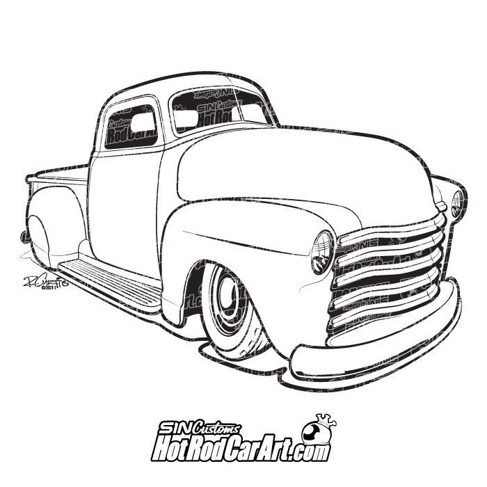 Hot Rod 1952 Chevy Truck