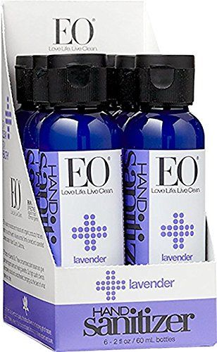 Eo Botanical Hand Sanitizer Gel Lavender 2 Ounce Pack Of 6