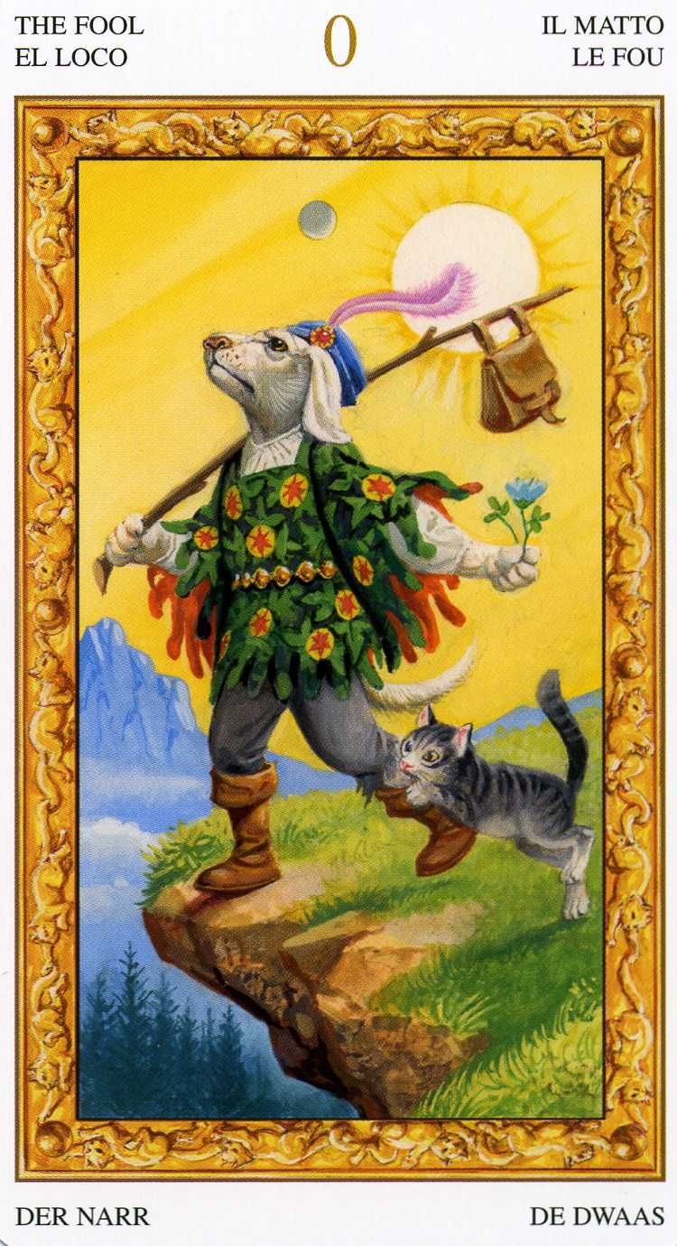0 - The Fool - White Cats Tarot