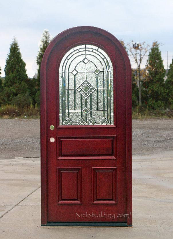 Beautiful Mahogany Round Top Door | African Mahogany Doors | Arched Round .