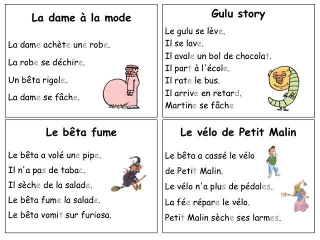 Histoires simples alphas cp alphas Pinterest Montessori