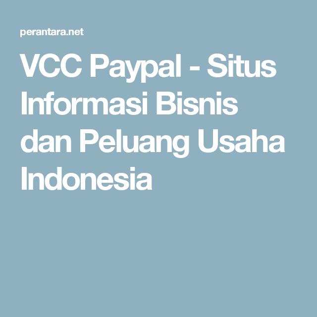 VCC Paypal | Indonesia, Dan