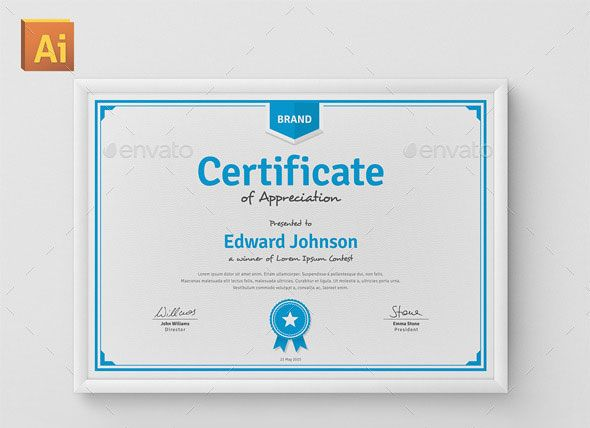 35 Best Certificate Template Designs Certificate, Certificate - certificate of appreciation template for word