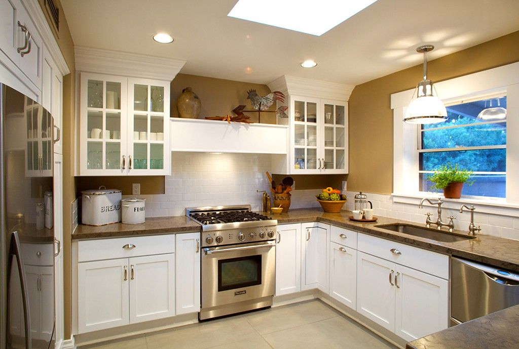 Classic vintage white Kitchen remodel with kitchen cabinets by ...